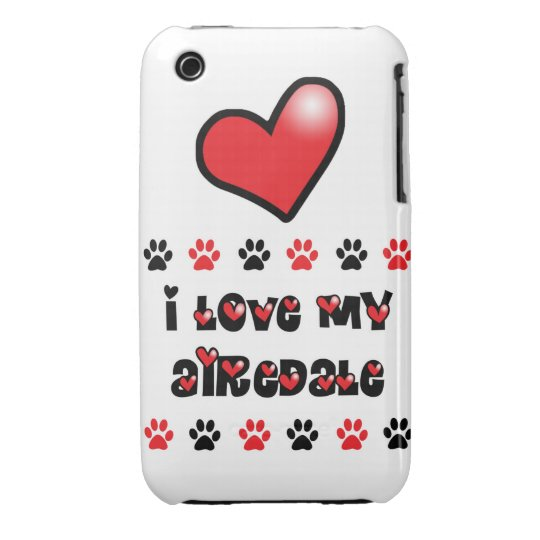 I Love My Airedale iPhone 3 Case