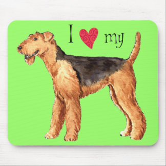 I Love my Airedale Mouse Pad