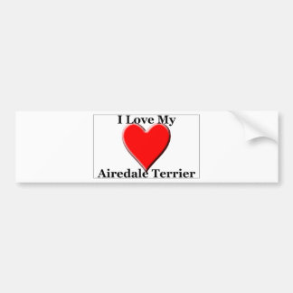 I Love My Airedale Terrier Bumper Stickers