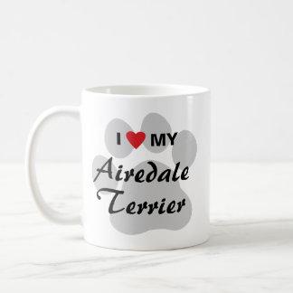 I Love My Airedale Terrier Coffee Mug