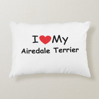 I love my Airedale Terrier dog Accent Pillow
