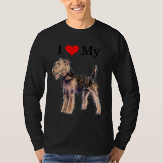 I Love My Airedale Terrier Shirt