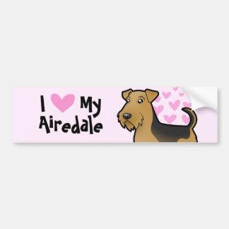 I Love My Airedale Terrier Welsh Terrier Bumper Sticker