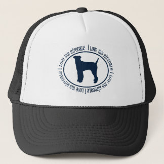 I Love My Airedale Trucker Hat