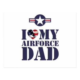 I LOVE MY AIRFORCE DAD POSTCARD