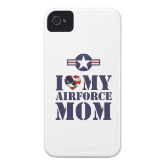 I LOVE MY AIRFORCE MOM Case-Mate iPhone 4 CASES