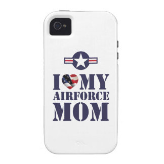 I LOVE MY AIRFORCE MOM Case-Mate iPhone 4 CASE