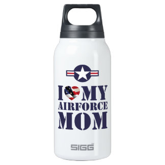 I LOVE MY AIRFORCE MOM INSULATED WATER BOTTLE