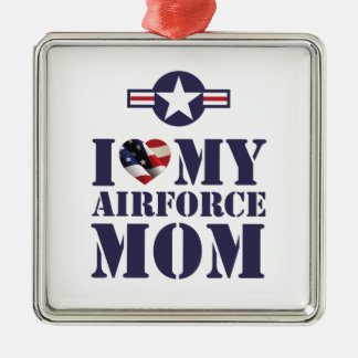 I LOVE MY AIRFORCE MOM METAL ORNAMENT