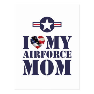 I LOVE MY AIRFORCE MOM POSTCARD