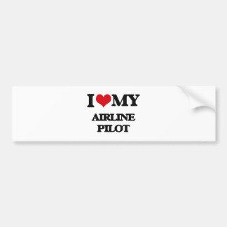 I love my Airline Pilot Bumper Sticker