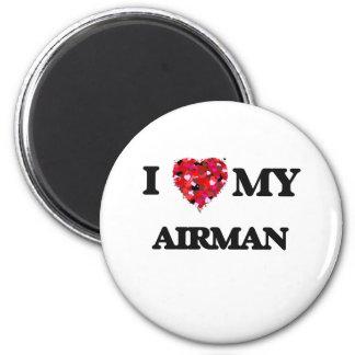 I love my Airman 2 Inch Round Magnet