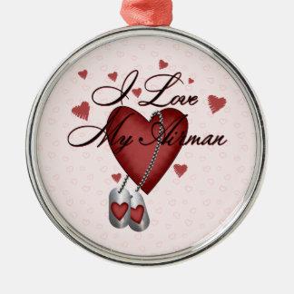 I Love My Airman Metal Ornament