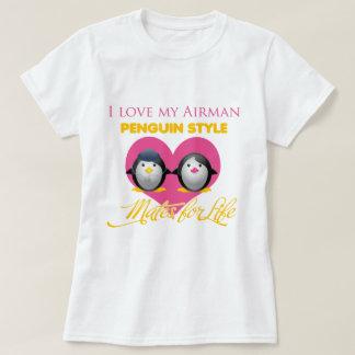 I Love My Airman Penguin Style T-Shirt