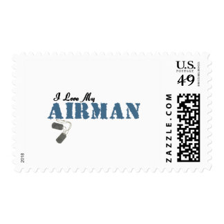 I Love My Airman Postage Stamp