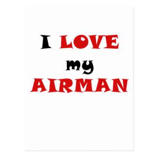 I Love my Airman Postcard