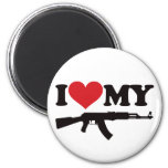 I Love My AK47 2 Inch Round Magnet