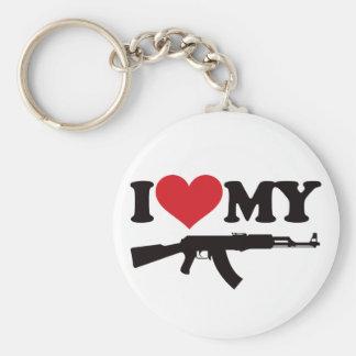 I Love My AK47 Keychains