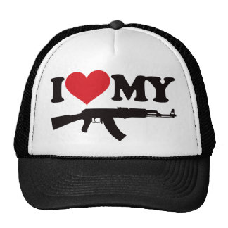 I Love My AK47 Trucker Hat