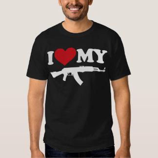 I Love My AK47 Tshirts
