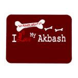I Love My Akbash Dog Flexible Magnets