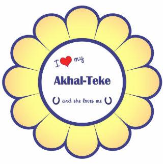 I Love My Akhal-Teke (Female Horse) Statuette