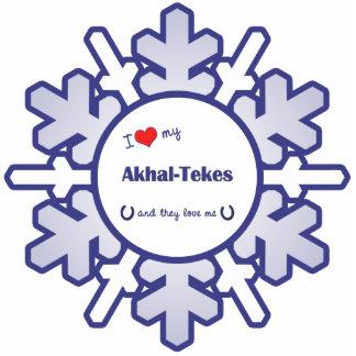 I Love My Akhal-Tekes (Multiple Horses) Statuette