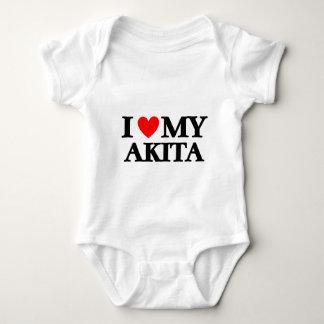 I love my Akita Baby Bodysuit