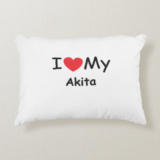 I love my Akita dog Accent Pillow