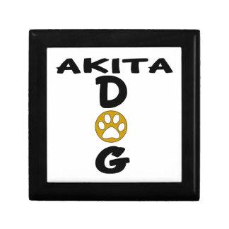 I Love My Akita Dog Designs Gift Box