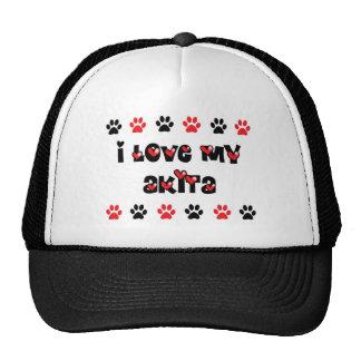 I Love My Akita Trucker Hat