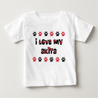 I Love My Akita T Shirt