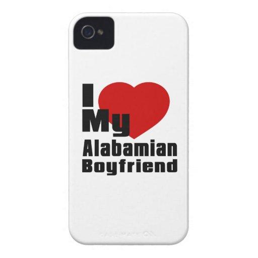 I Love My Alabamian boyfriend iPhone 4 Case