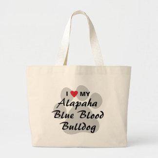 I Love My Alapaha Blue Blood Bulldog Large Tote Bag