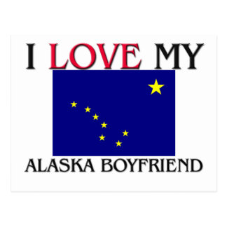I Love My Alaska Boyfriend Postcard