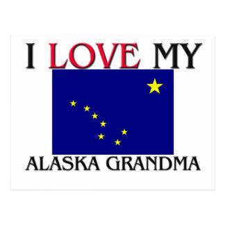 I Love My Alaska Grandma Postcard