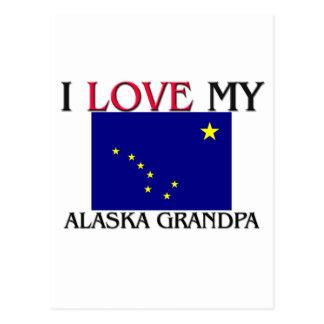 I Love My Alaska Grandpa Postcard