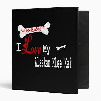 I Love My Alaskan Klee Kai Binder