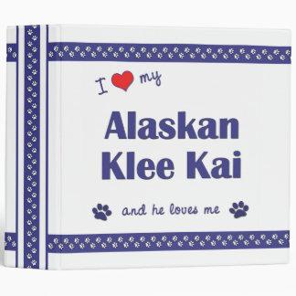 I Love My Alaskan Klee Kai (Male Dog) Binder