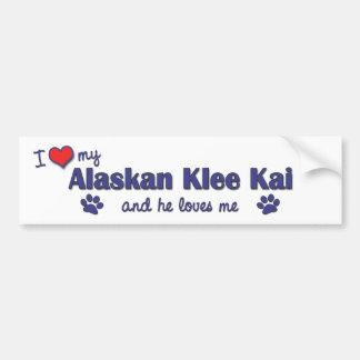 I Love My Alaskan Klee Kai (Male Dog) Car Bumper Sticker