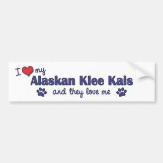 I Love My Alaskan Klee Kais (Multiple Dogs) Car Bumper Sticker
