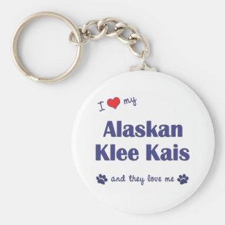 I Love My Alaskan Klee Kais (Multiple Dogs) Basic Round Button Keychain