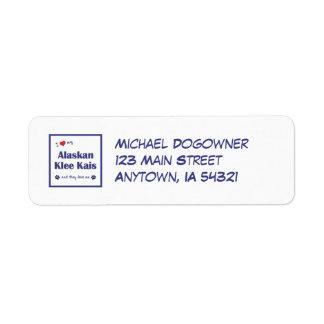 I Love My Alaskan Klee Kais (Multiple Dogs) Return Address Label