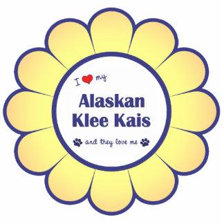 I Love My Alaskan Klee Kais (Multiple Dogs) Photo Sculpture Ornament