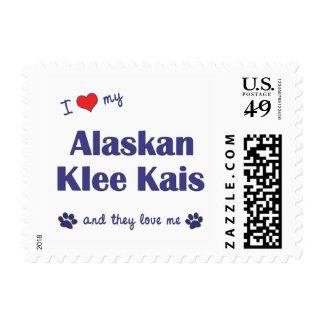 I Love My Alaskan Klee Kais (Multiple Dogs) Postage