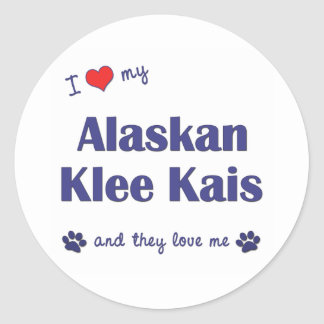 I Love My Alaskan Klee Kais (Multiple Dogs) Classic Round Sticker