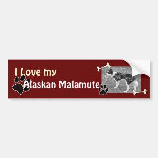 I love my Alaskan Malamute Bumper Sticker Car Bumper Sticker