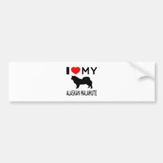 I Love My Alaskan Malamute. Car Bumper Sticker
