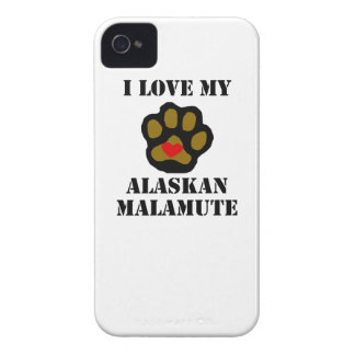 I Love My Alaskan Malamute Case-Mate iPhone 4 Case