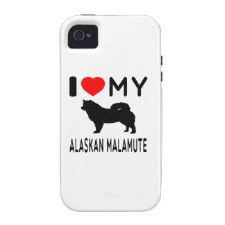 I Love My Alaskan Malamute. Case-Mate iPhone 4 Covers